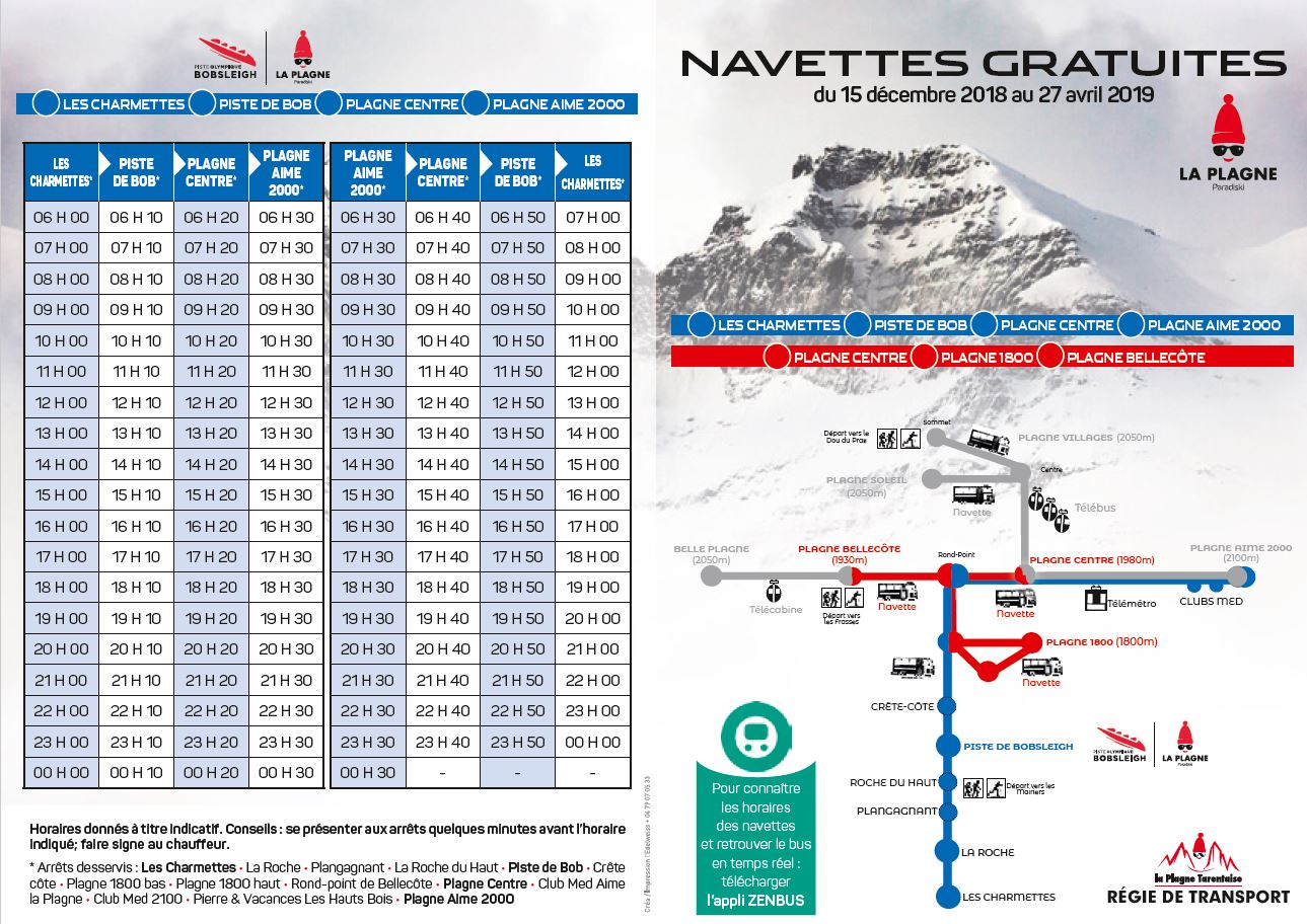 Horaire navettes interstation page 1