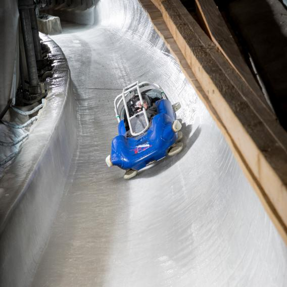 Speed Luge piste olympique de bobsleigh