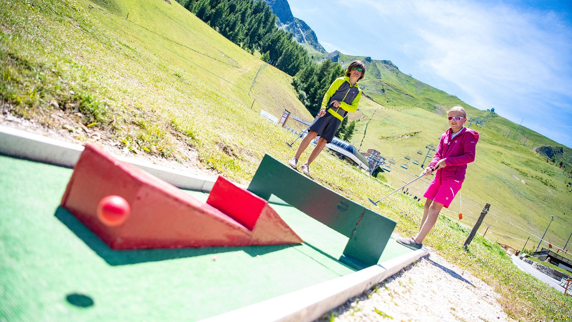 Mini Golf à Plagne Bellecôte